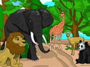 تلوين حيوانات الغابة