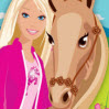 تلوين باربي وحصانها