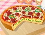 طبق بيتزا شيكاغو العميق