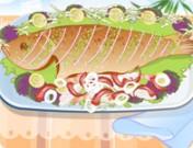تزيين وليمة السمك