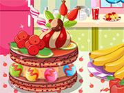 كيكة الفاكهة الحلوة